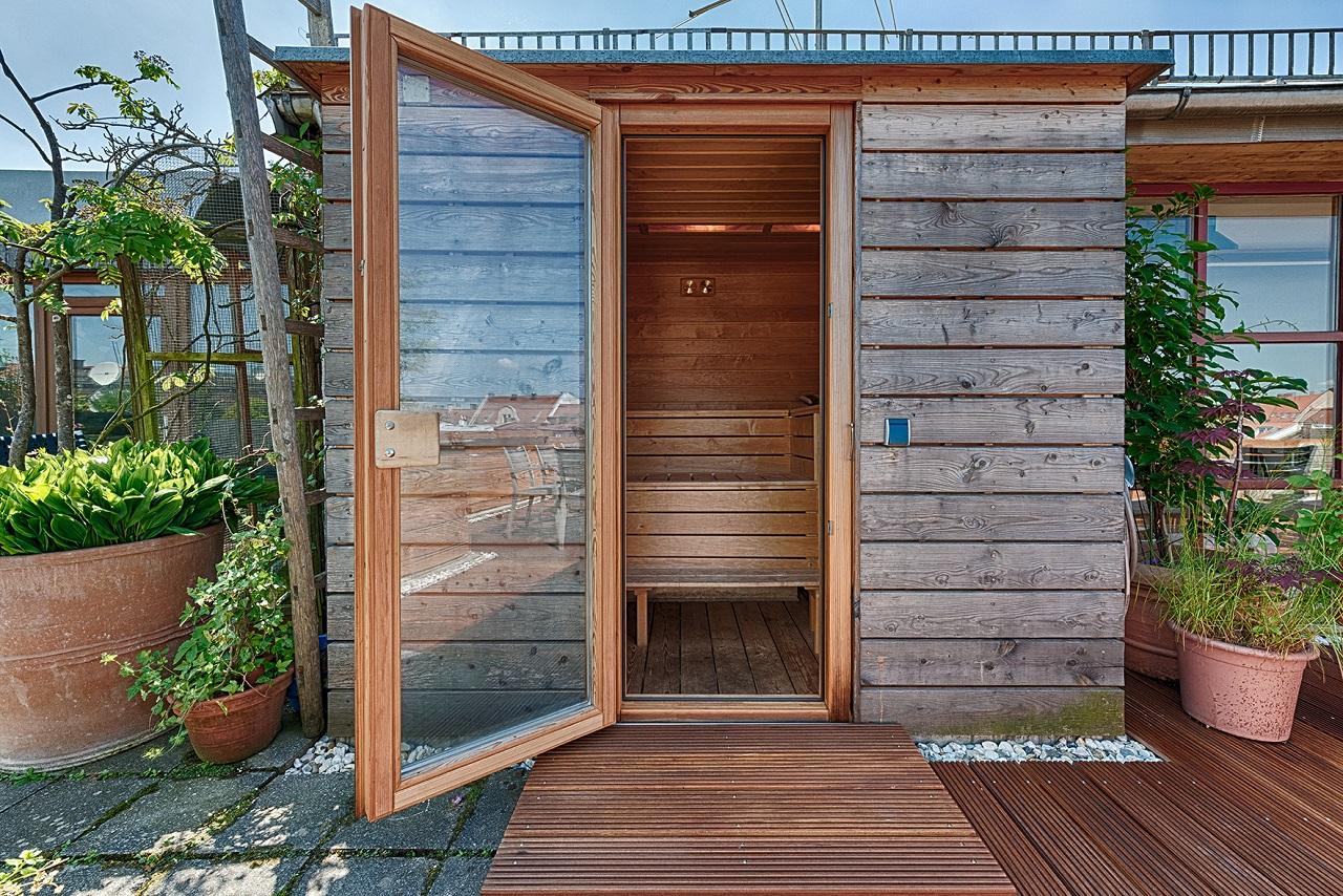 terrasse sauna